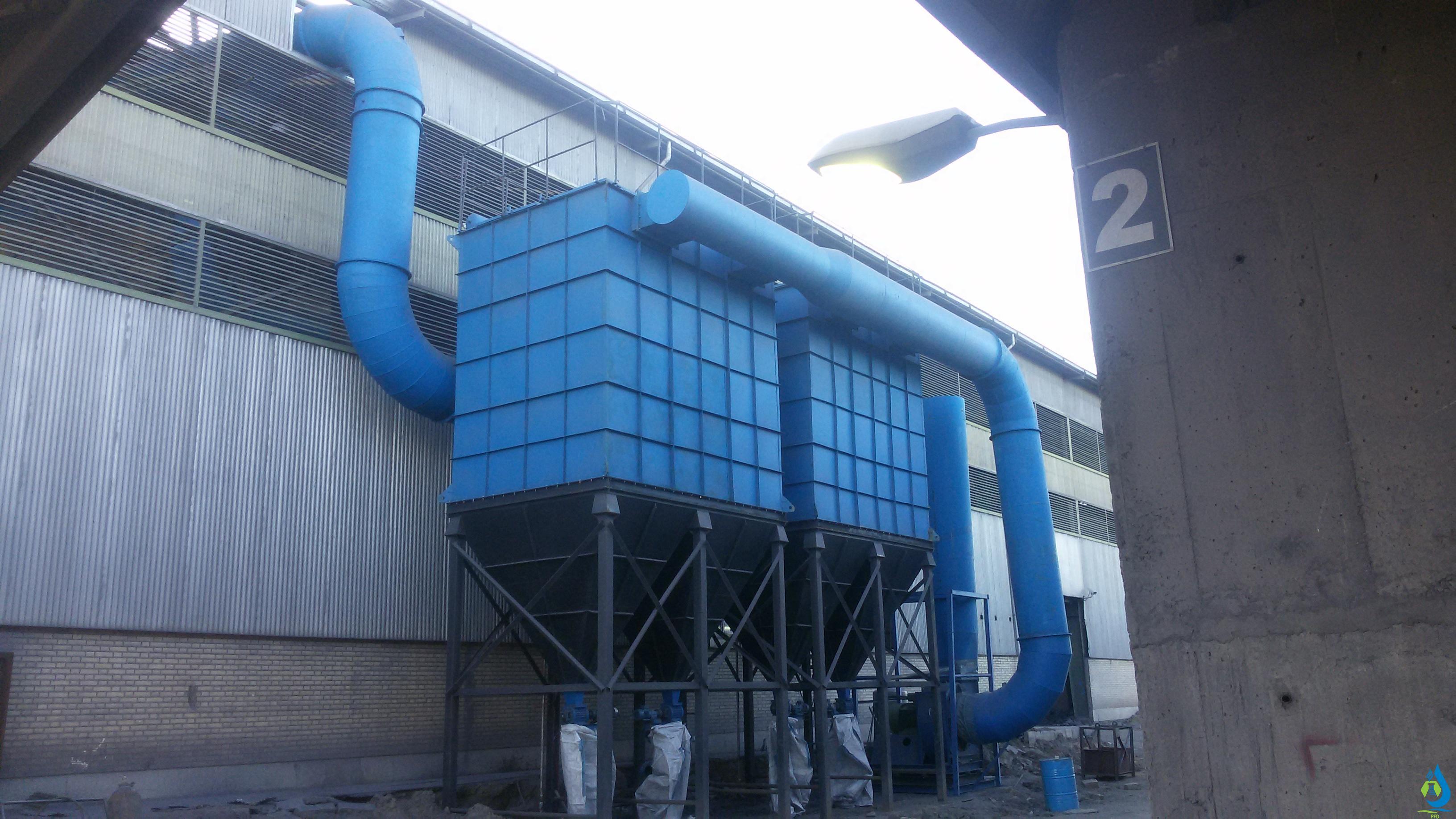 معرفی سیستم غبارگیر صنعتی(بگ فیلتر)